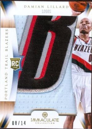 2012-13 Immaculate Basketball Lillard jumbo patch