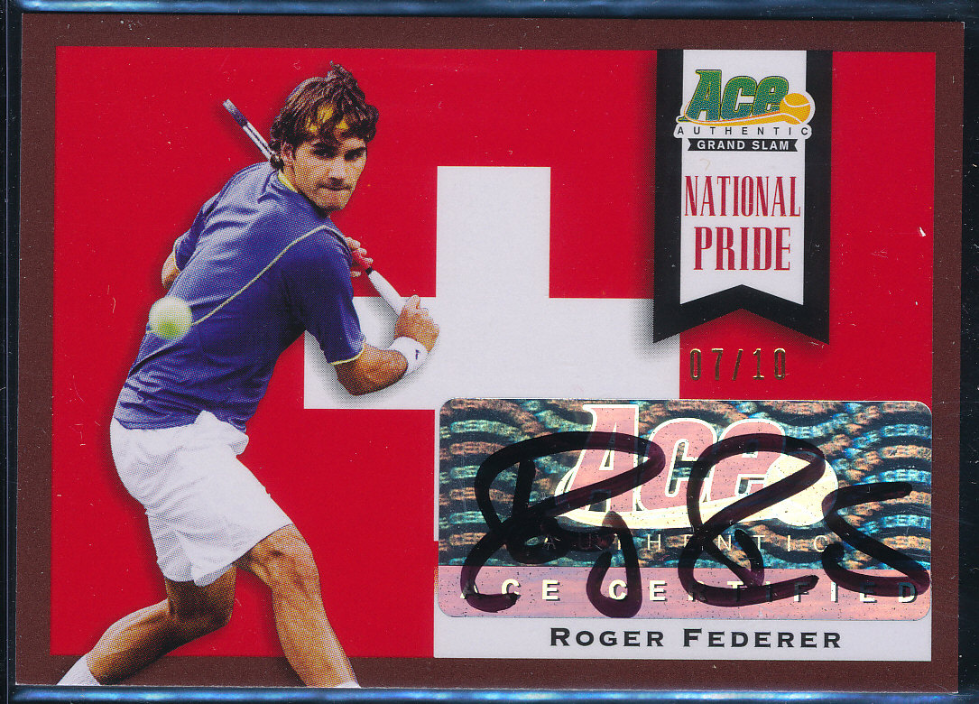 Autographed Roger Federer 2013 Ace Authentic National Pride