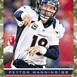 Peyton Manning 2013 Broncos giveaway card