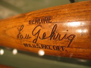 Lou Gehrig bat at the Museum/Flickr photo by jshyun (Creative Commons)