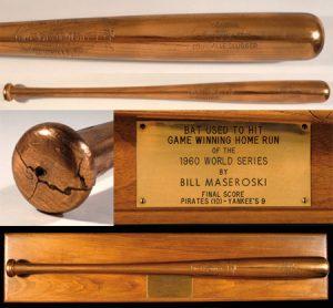 Mazeroski 1960 home run bat