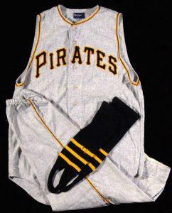 Game worn Bill Mazeroski Pirates uniform