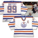 Wayne Gretzky game jersey 1986 Edmonton Oilers