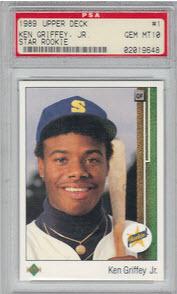 PSA 10 Ken Griffey Jr. Upper Deck rookie card