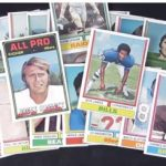 Topps 1974 football cards