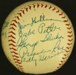 1954 Dodgers autographs