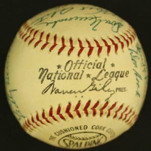 Warren Giles official baseball 1950s