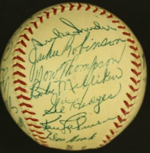 Brooklyn Dodgers 1954 signed baseball