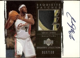 2003-04 Exquisite Patches LeBron