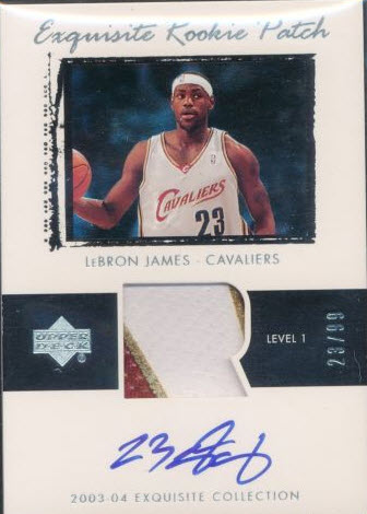 2003-04 Exquisite LeBron James rookie 23