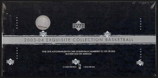 2003-04 Exquisite Basketball box