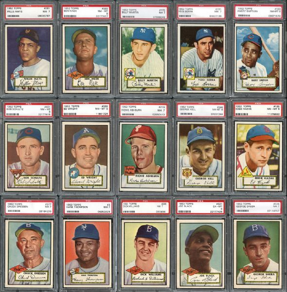 Topps 1952 graded cards