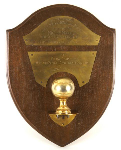 Mickey Mantle Art Griggs Award
