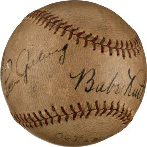 Ruth-Gehrig signed ball