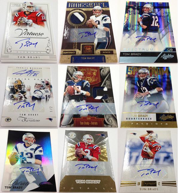 Autographed Tom Brady cards