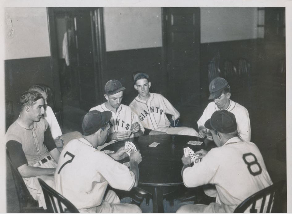 Mel Ott Carl Hubbell New York Giants 1934