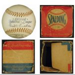 Official NL ball Babe Ruth signed with box