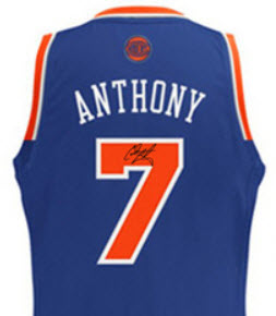 Autographed Carmelo Anthony jersey