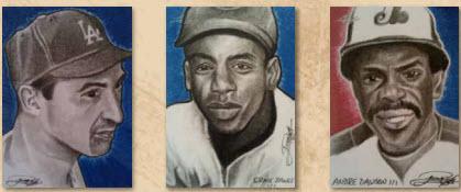 Baseball card art Leaf Legends of the Diamond