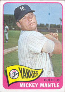 Mickey Mantle 1965 Topps