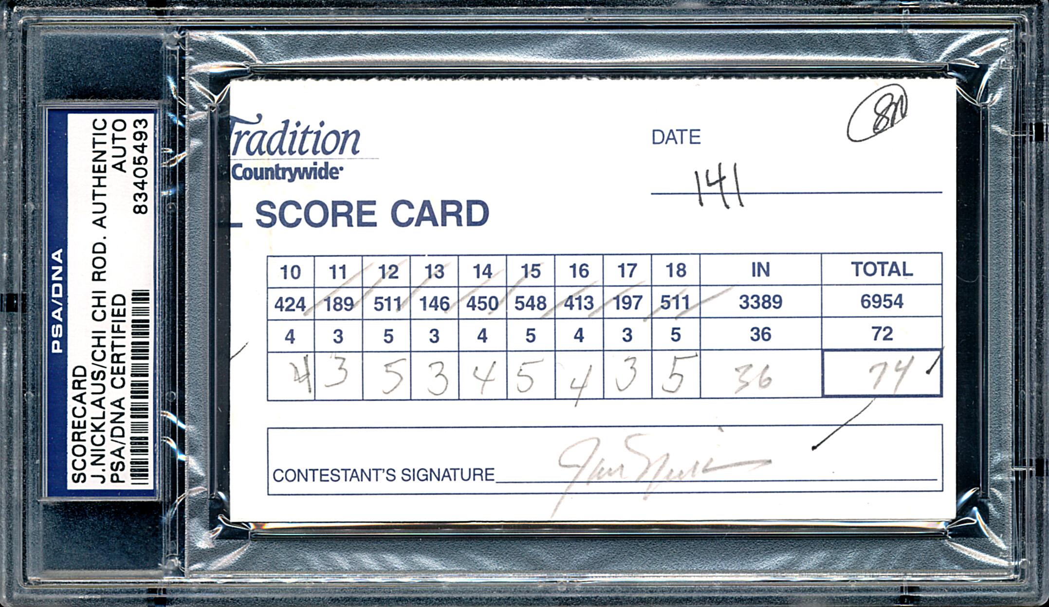 Nicklaus-Rodriguez Scorecard