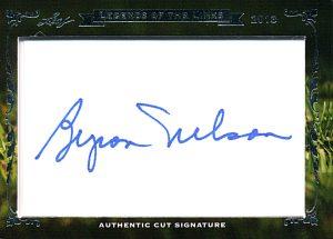 Byron Nelson cut autograph