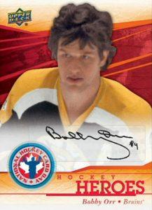 Autographed Bobby Orr card 2014 National Hockey Card Day