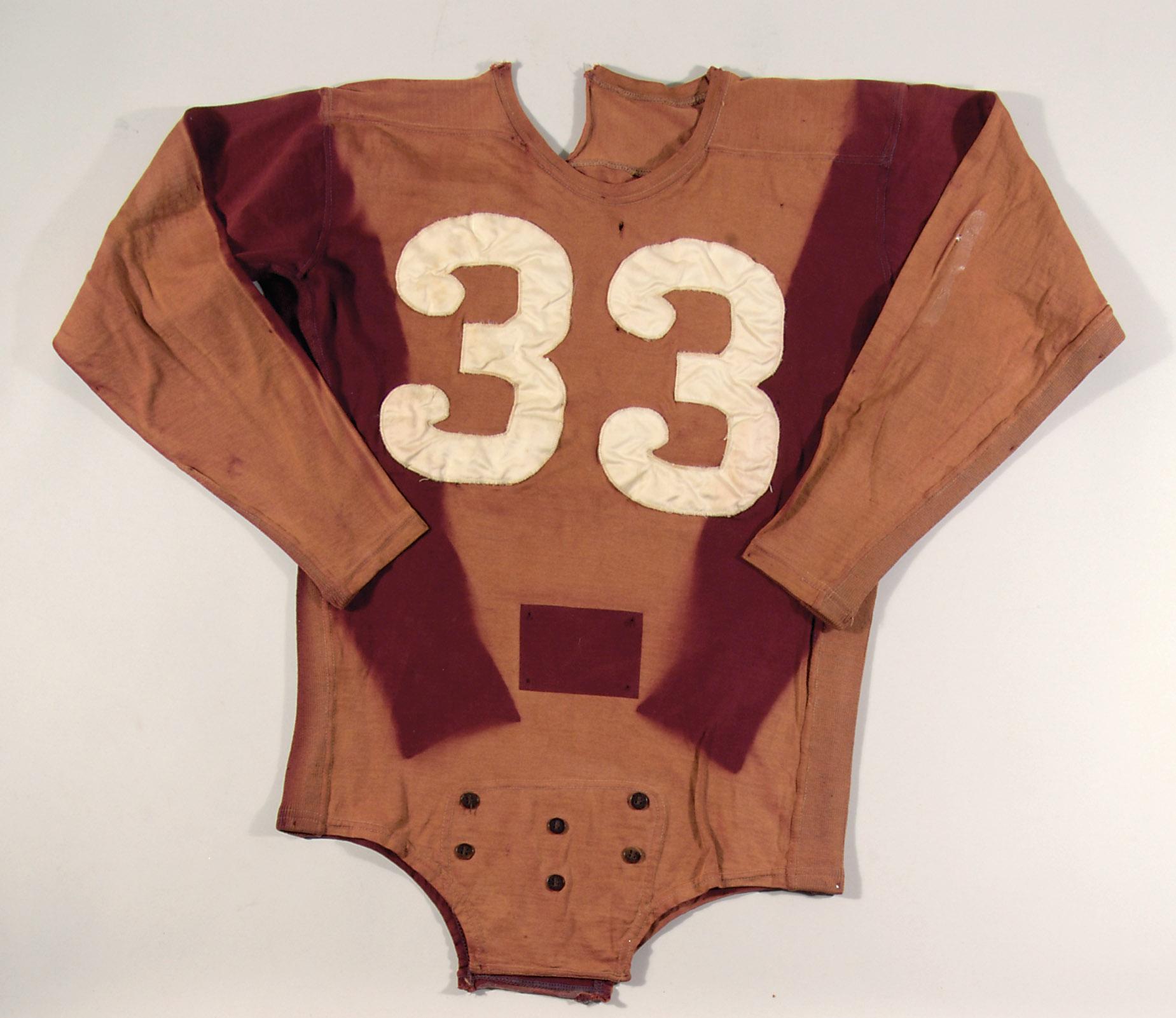 Game worn Sammy Baugh Redskins jersey