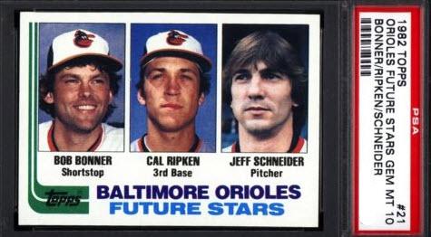 Cal Ripken Jr.1982 Topps PSA 10