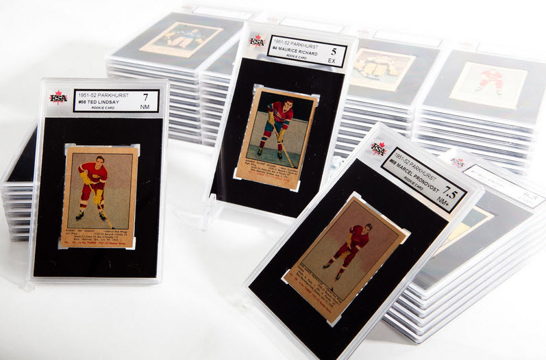 1951-52 Parkhurst hockey cards