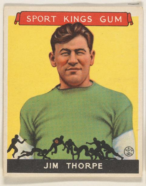 1933 Goudey Sport Kings Jim Thorpe