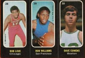 Topps 1971-72 Trio Stickers