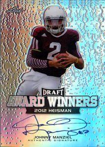 Johnny Manziel autograph 2014 Leaf Metal Draft football card