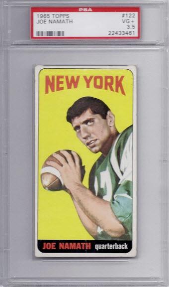 Joe Namath rookie card 1965