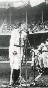 Babe Ruth Yankee Stadium 1948