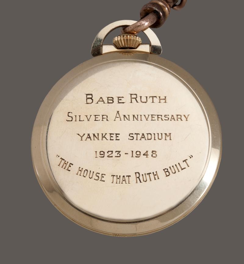 Babe Ruth pocket watch Yankee Stadium 1948