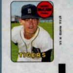 Denny McLain 1969 Topps decal