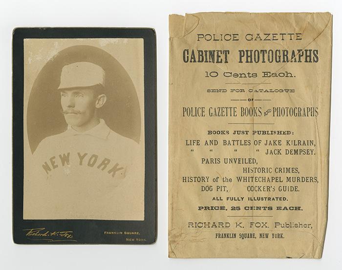 John Montgomery Ward 1889 Police Gazette card