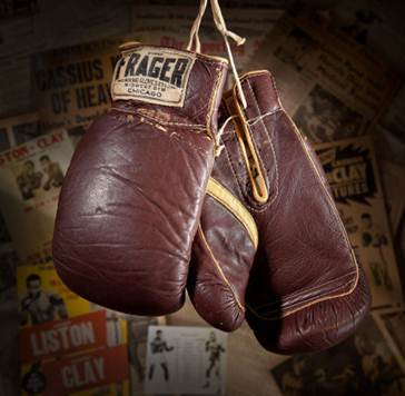 Cassius Clay gloves Sonny Liston fight 1964