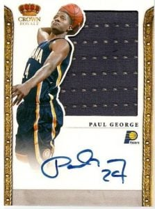 Paul George Crown Royale auto jersey