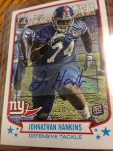 Topps Magic Johnathan Hankins autograph