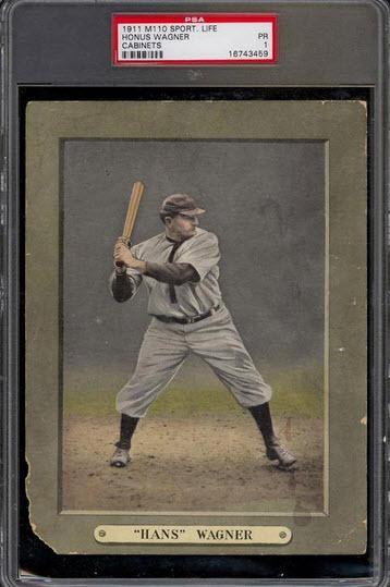 1911 Sporting Life Cabinet Honus Wagner