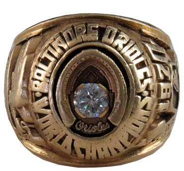 1970 Orioles World Series ring