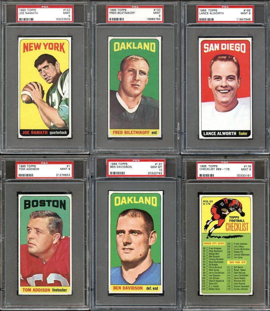 1965 Topps Football set best