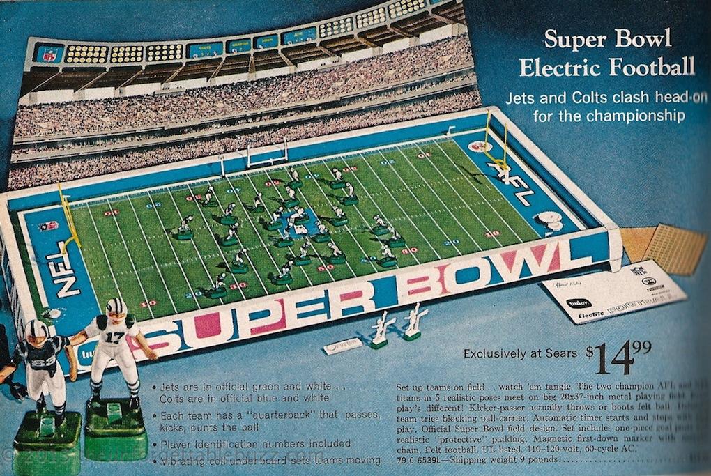 Sears Catalog Electric Football 1969