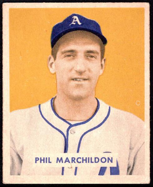 Phil Marchildon 1949 Bowman baseball