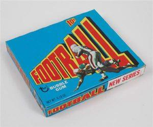 Unopened 1972 Topps football wax box