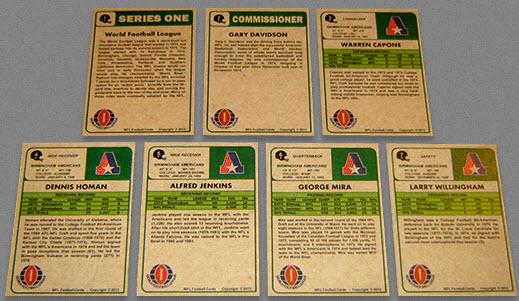 World Football League card backs