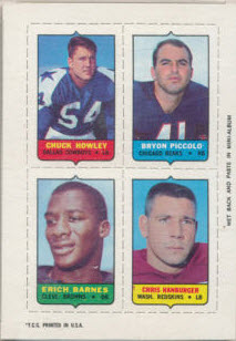 Brian Piccolo 1969 Topps 4 in 1