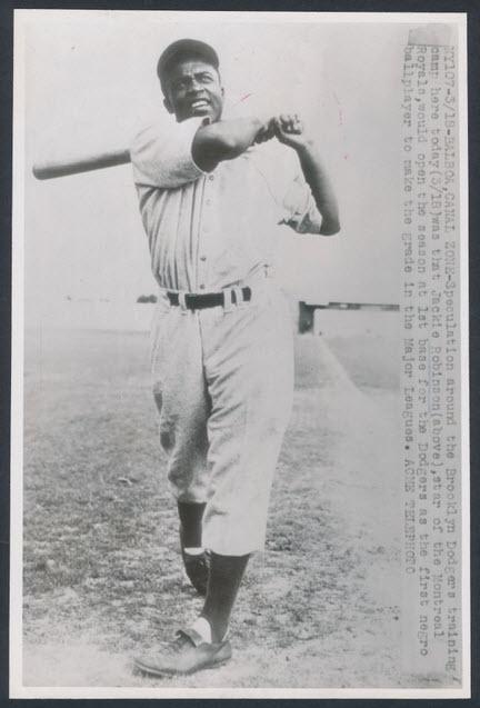 1947 Dodgers spring training Jackie Robinson Panama